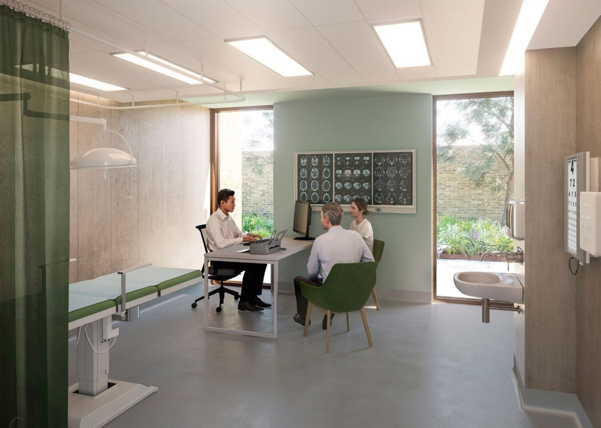 At Hawkins\ Brown's Central Surgery in Sawbridgeworth, face to face consultation has been augmented with telephony suites.