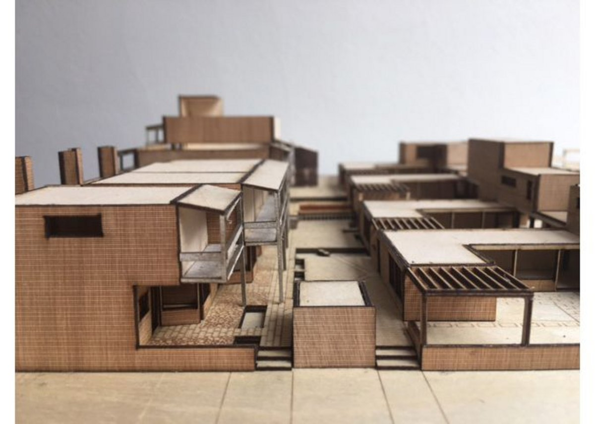 Interim design for Clare Hall. 1:200 Model.