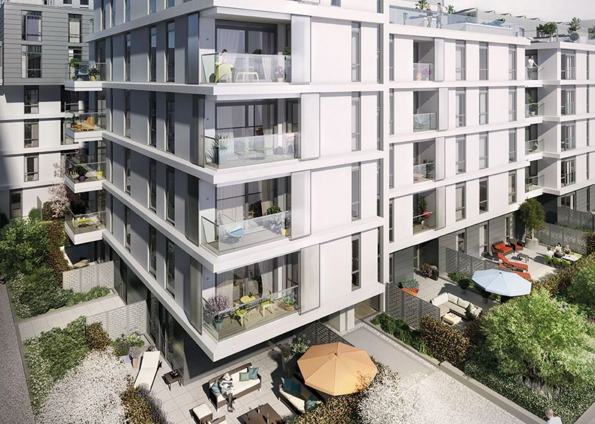 Properties at Nine Elms Point in south-west London range from studio apartments to penthouse suites.