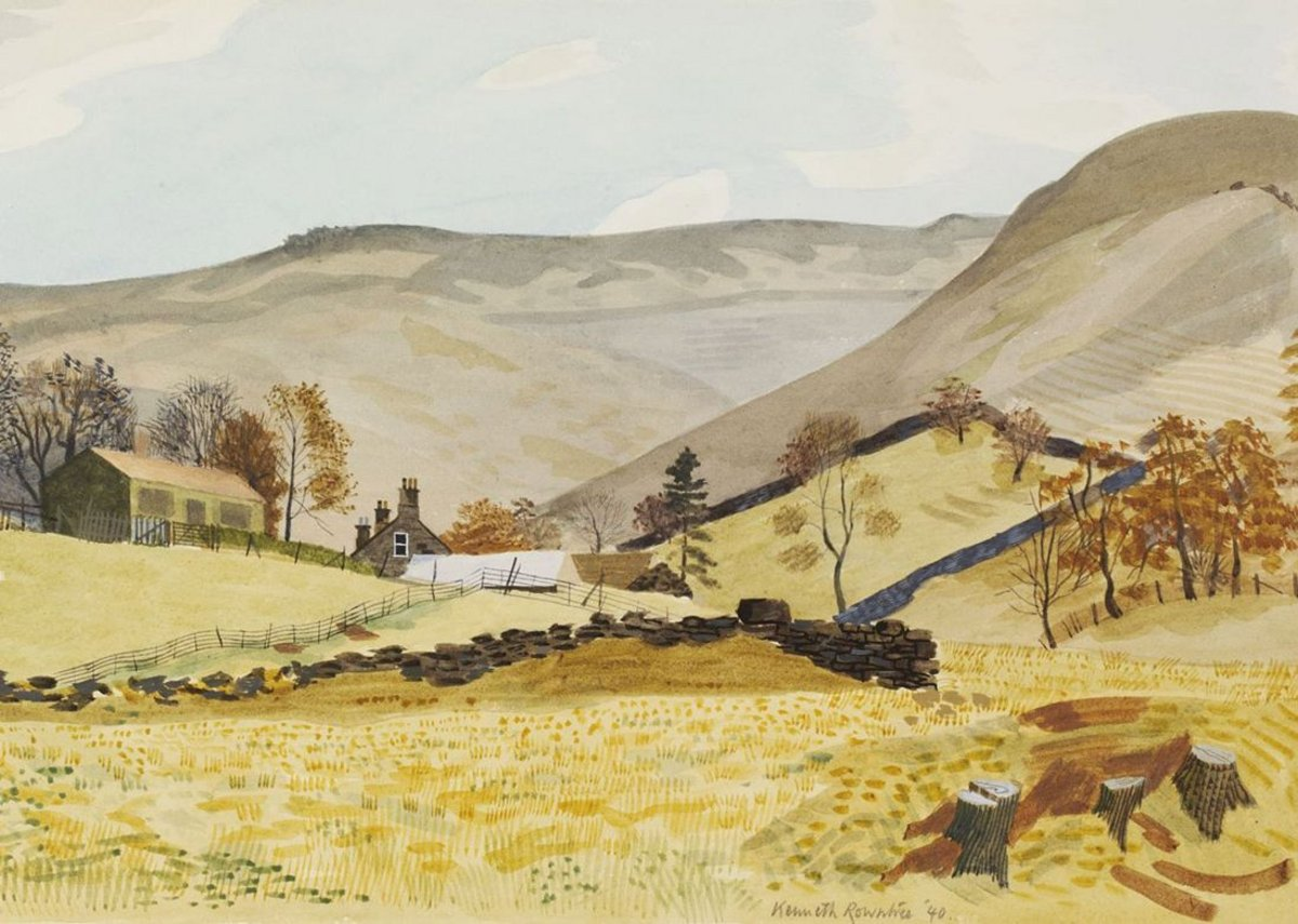 Kenneth Rowntree, Grainfoot Farm, Derwentdale, Derbyshire, 1940. Given by the Pilgrim Trust.