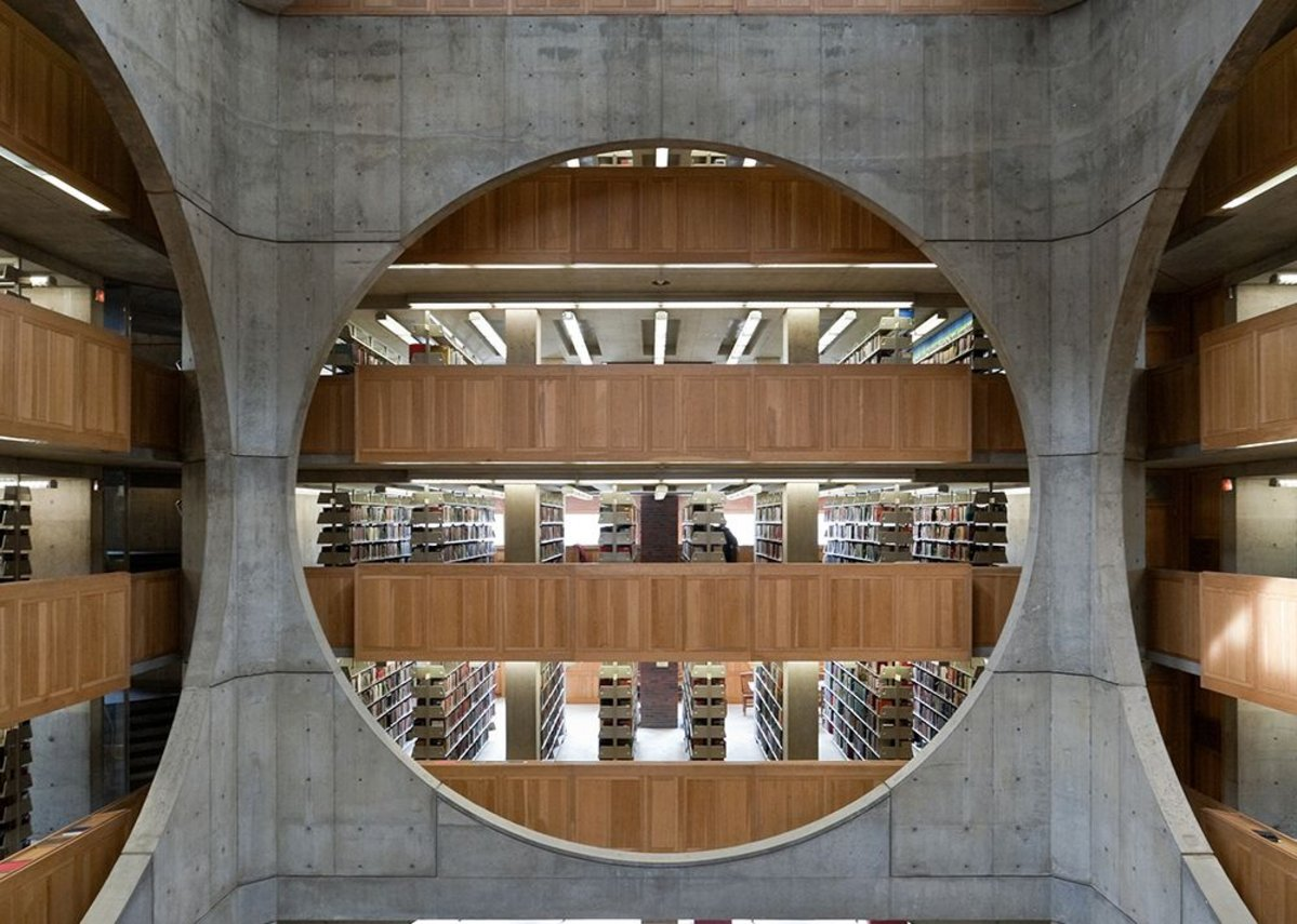 Library, Phillips Exeter Academy, Exeter, New Hampshire, Louis Kahn, 1965-72
