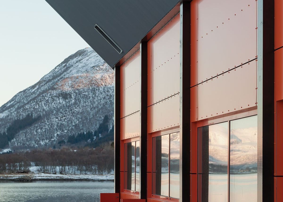 Wall insulation was designed to meet Norwegian building standards.