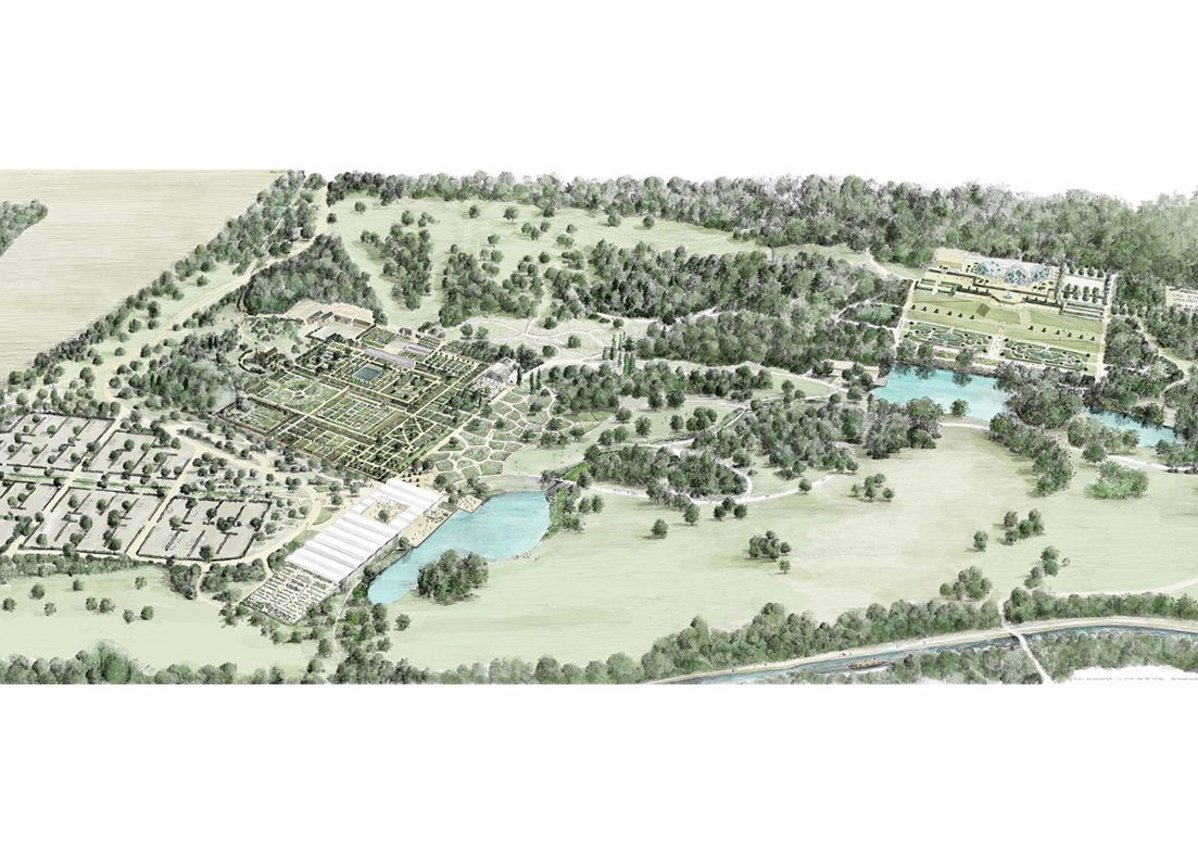 Masterplan of RHS Garden Bridgewater.