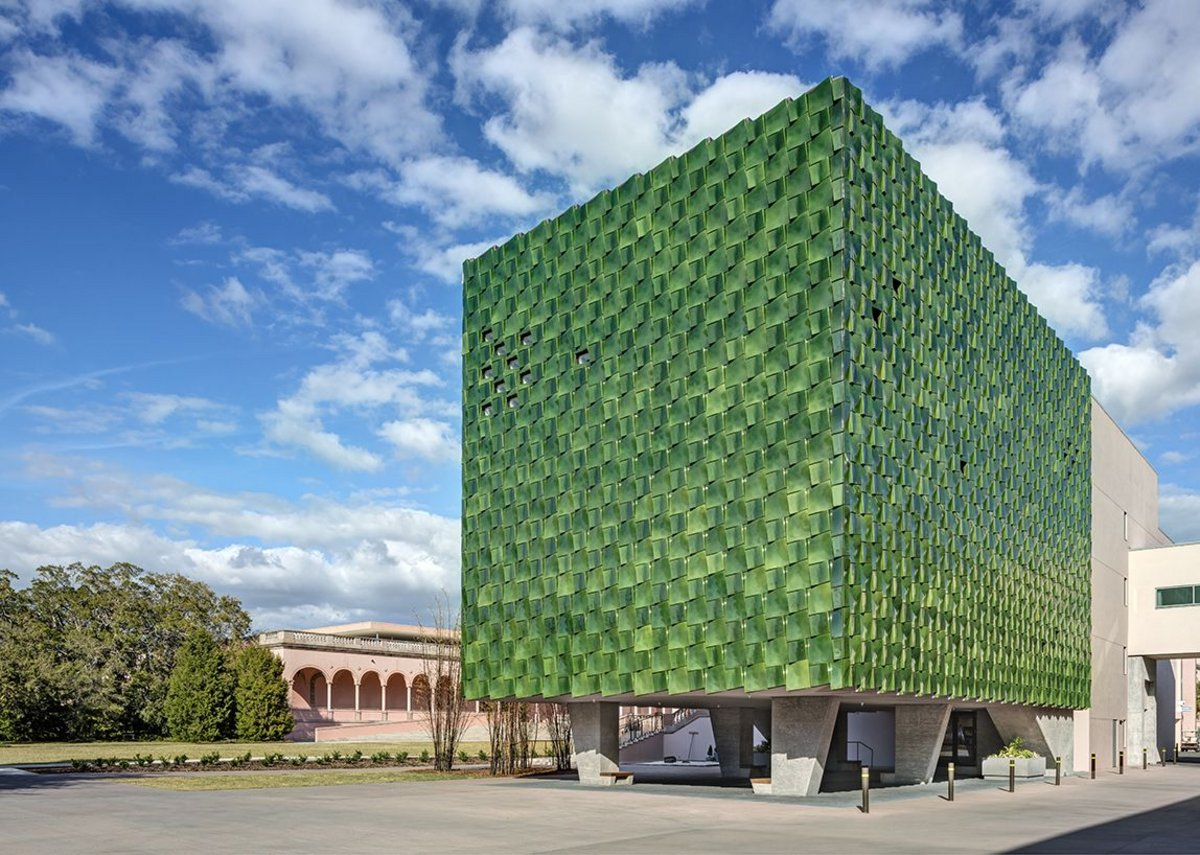 Ringling Museum in Sarasota, Florida, designed by Machado Silvetti Architects, features 3000 ceramic panels. These were made by RAM-press, hand press and slip cast methods by Boston Valley Terracotta.