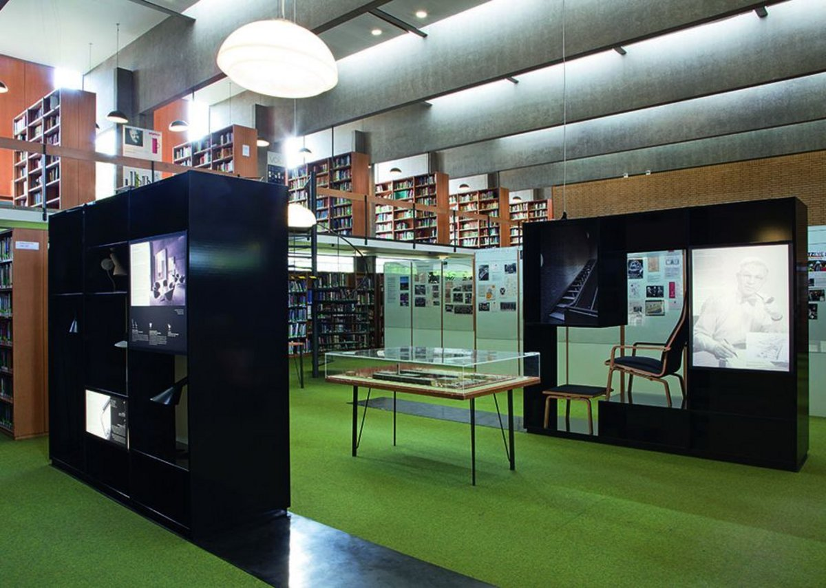 The exhibition in place at St Catherine's College library