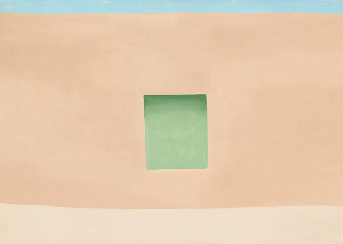 Wall with Green Door by Georgia O'Keeffe, 1953