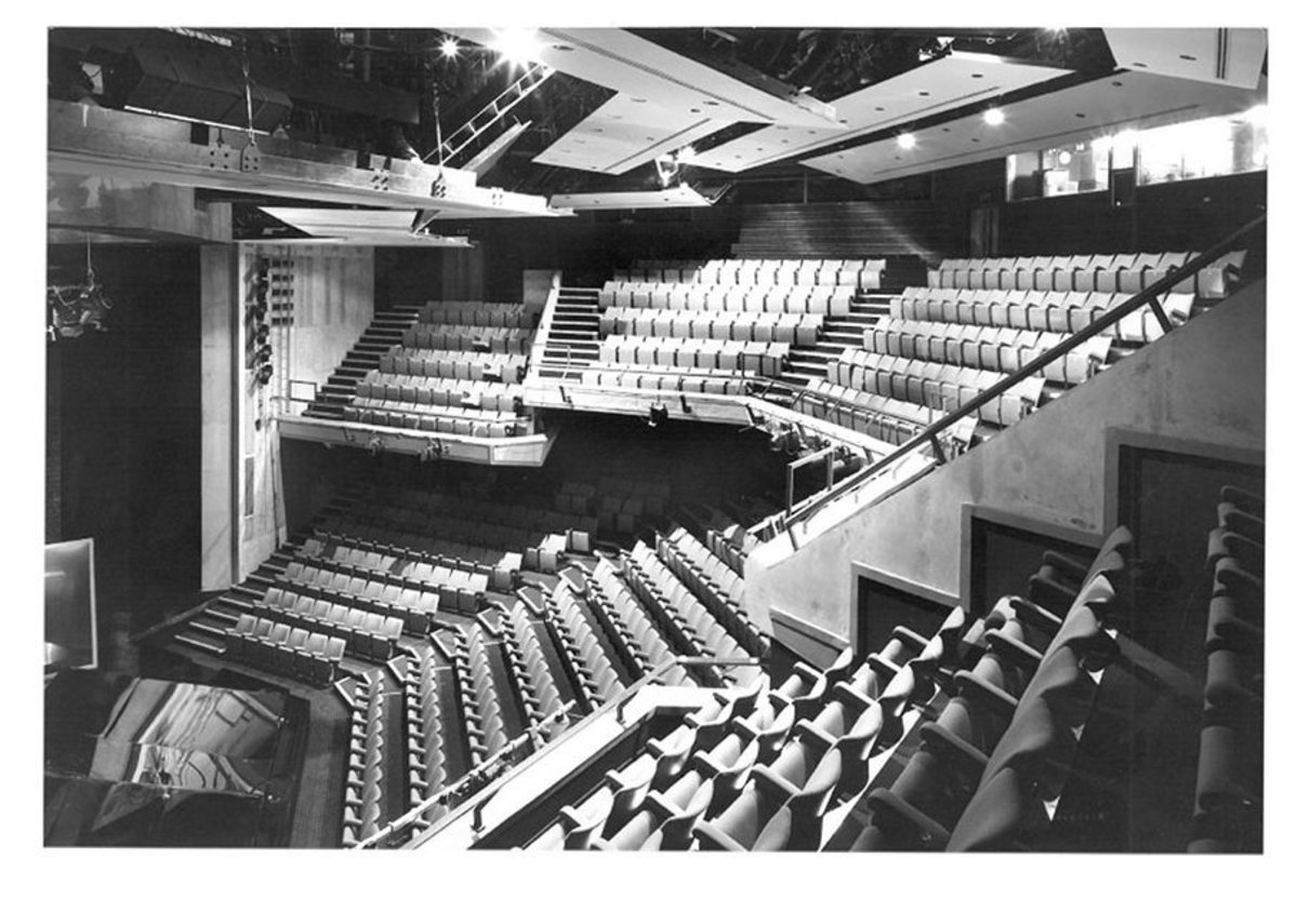Interior of Haymarket Theatre Leicester – part of the first job Kit Evans took on at BDP.