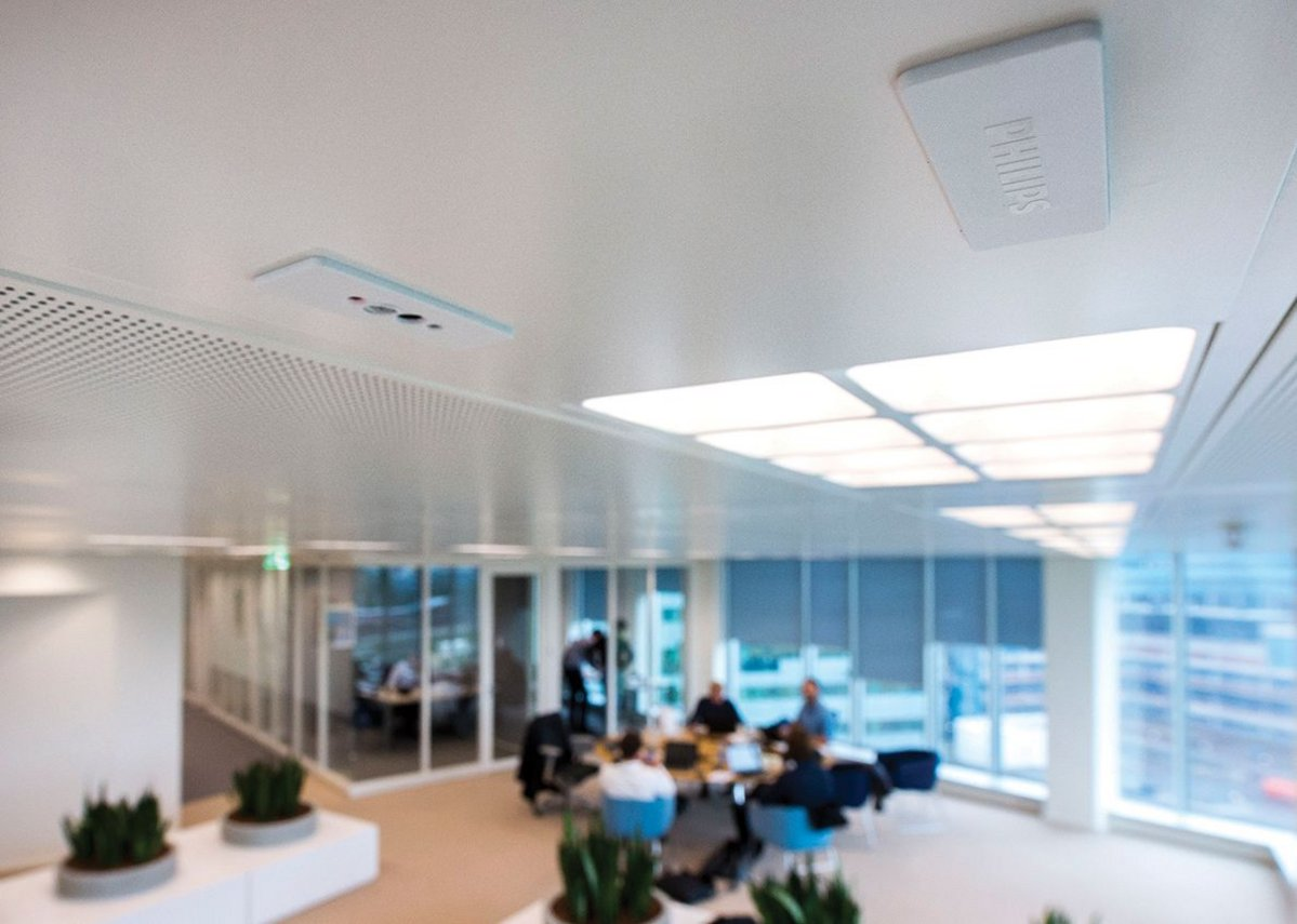 Philips POE systems installed at the Edge in Amsterdam.