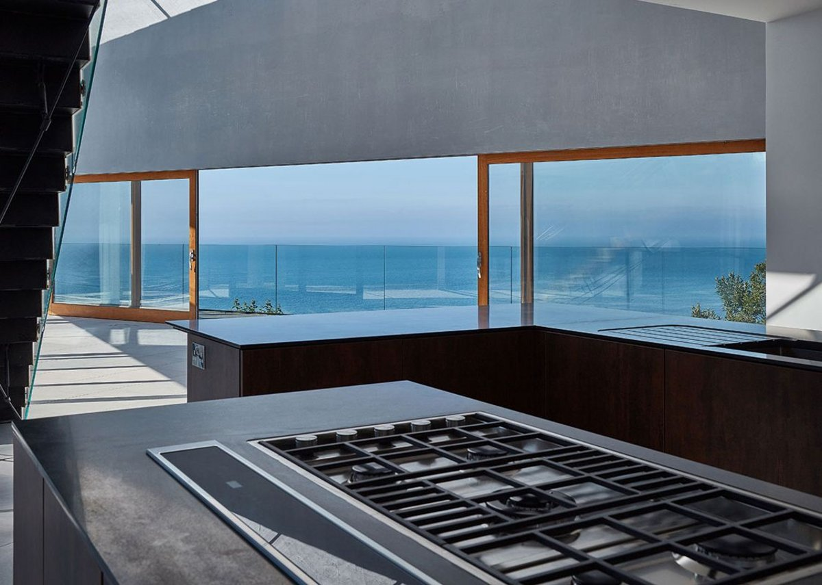 High spec kitchen. Stealth House, Devon by Guy Greenfield Architects.