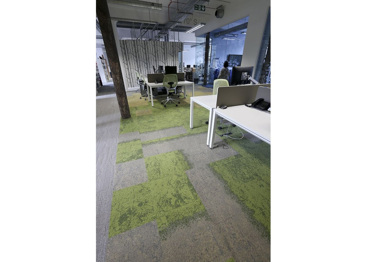 The carpet at Friends of the Earth is almost grass-like.