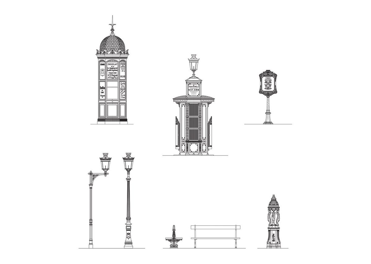 Haussmann's Paris: a total solution down to the detail of street furniture.