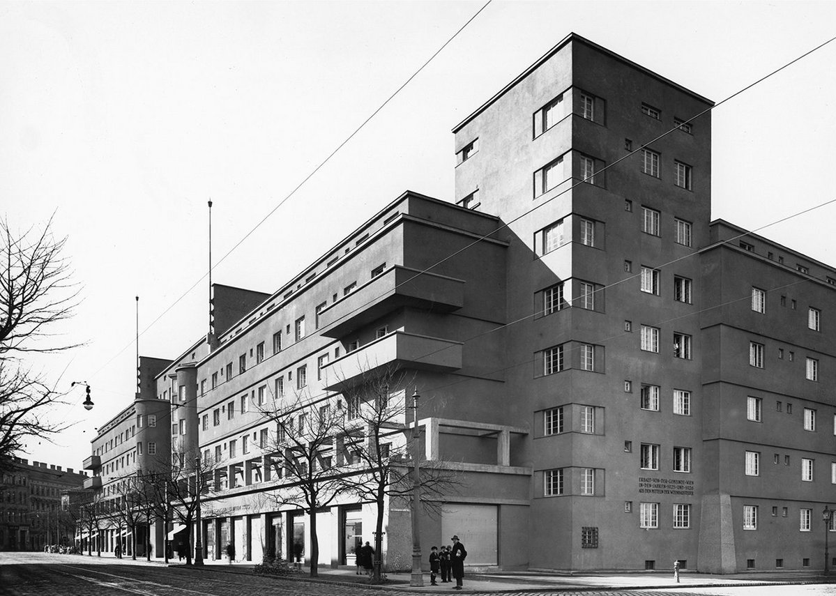 Karl Marx Hof, Vienna. Completed in 1930 during an intense period of municipal socialism.
