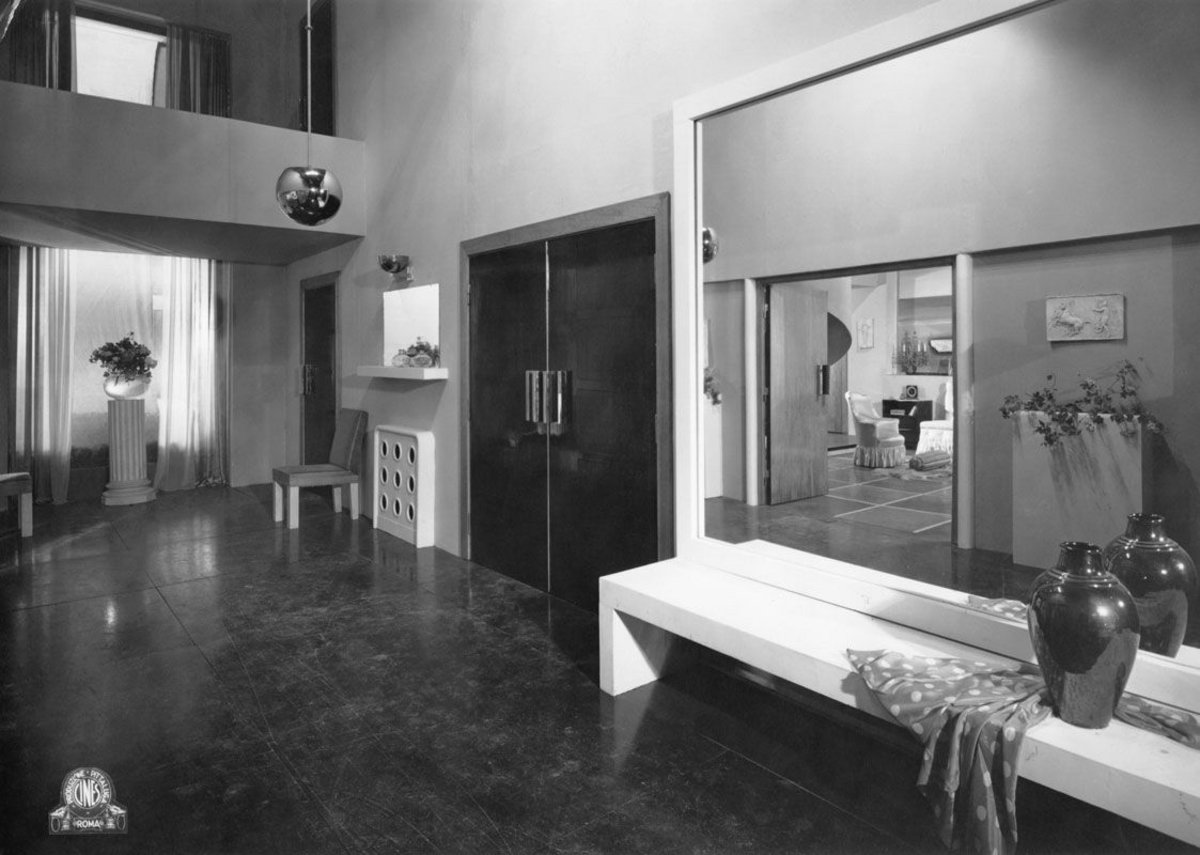 Gastone Medin. Set design for Cento di questi giorni (Many Happy Returns; Dir. Augusto and Mario Camerini, 1933) Gelatin silver print on paper, 14.7 x 23.9 cm