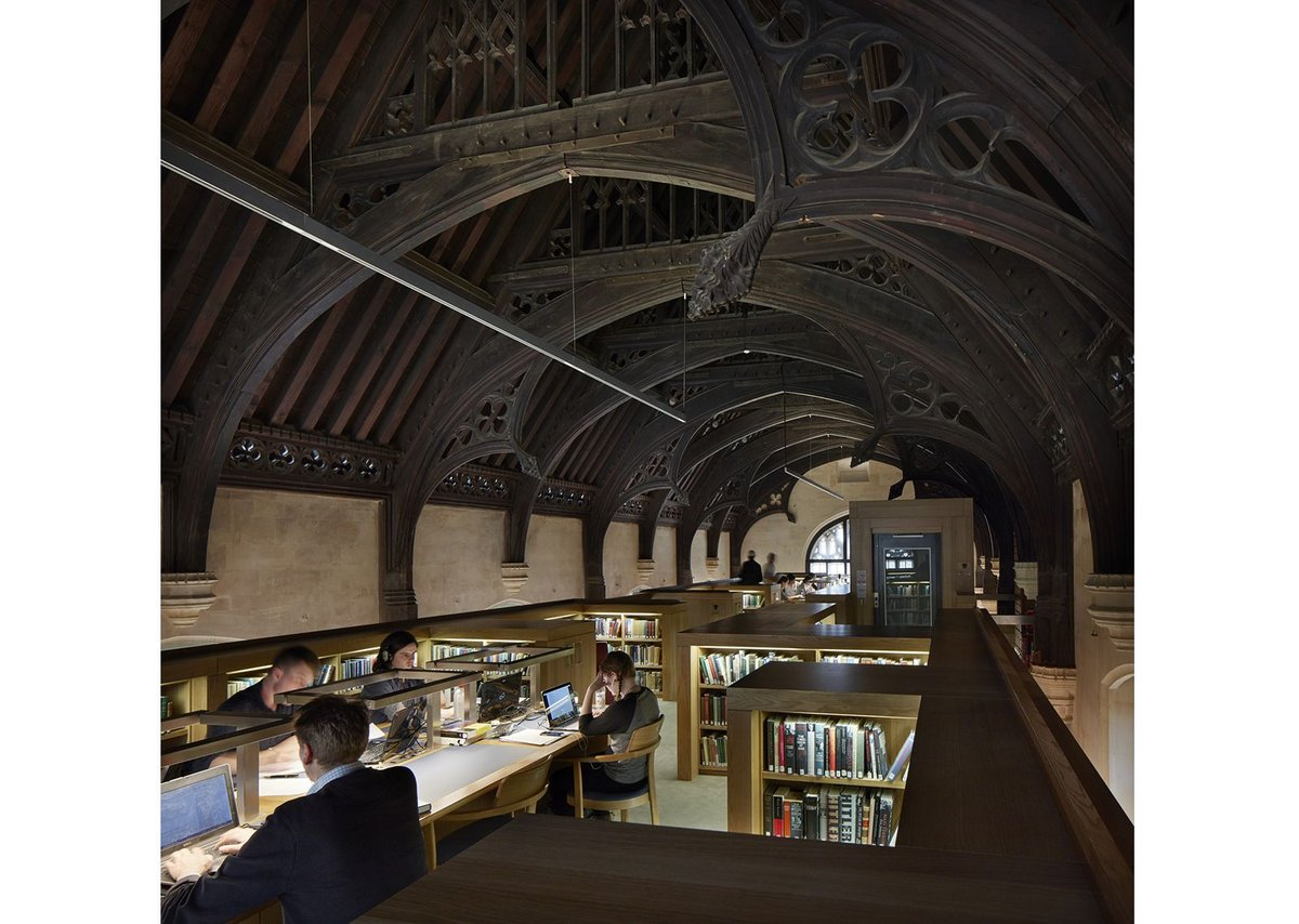 Magdalen College Library by Wright & Wright Architects.