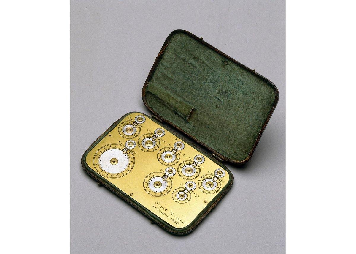 Morland's pocket calculating machine, c1670-95, Mathematics: The Winton Gallery .