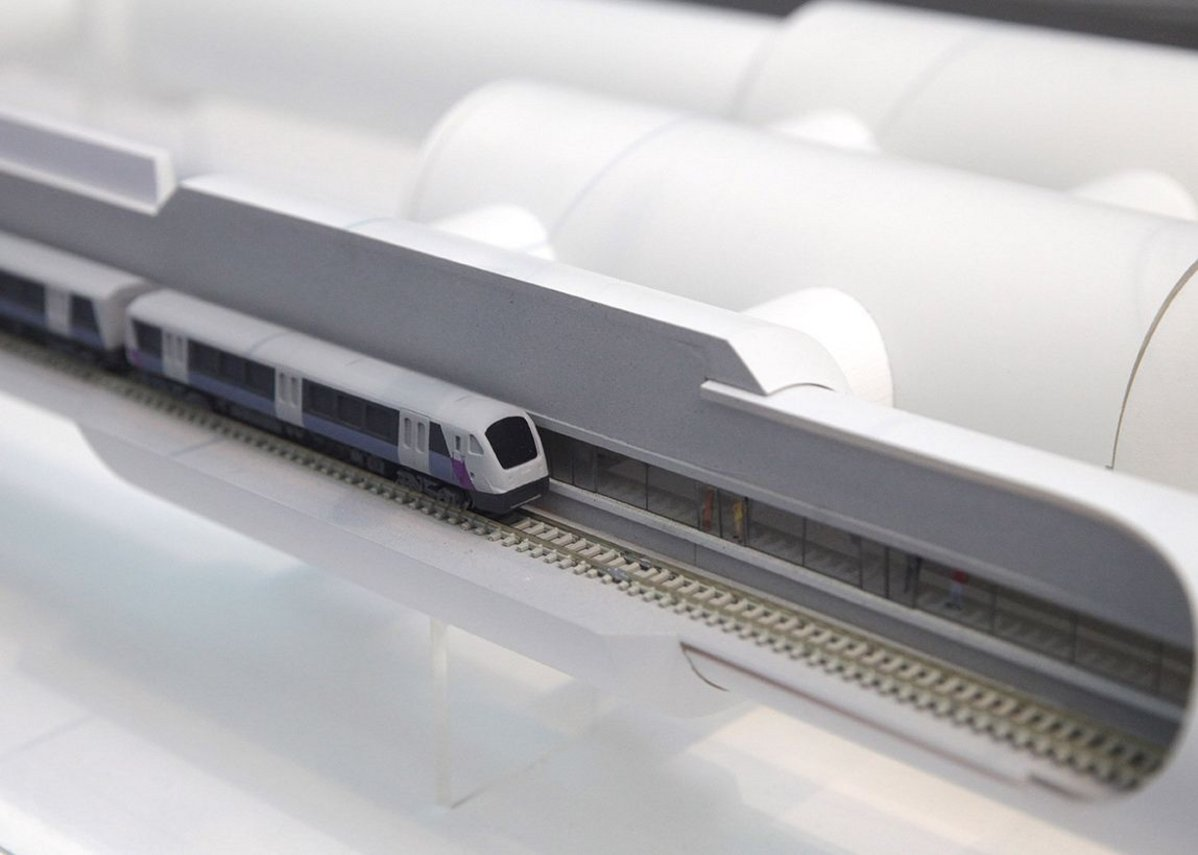Scale model of Elizabeth line train