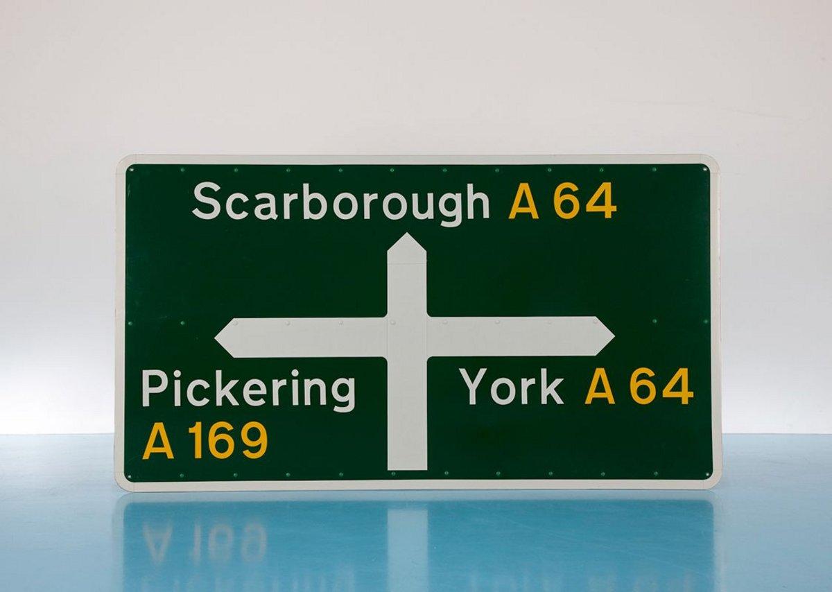 Designer Maker User British Road sign by Jock Kinneir and Margaret Calvert