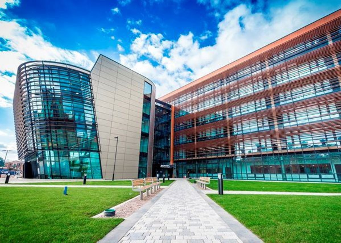DMU's esteemed Vijay Patel Building, designed by CPMG Architects.