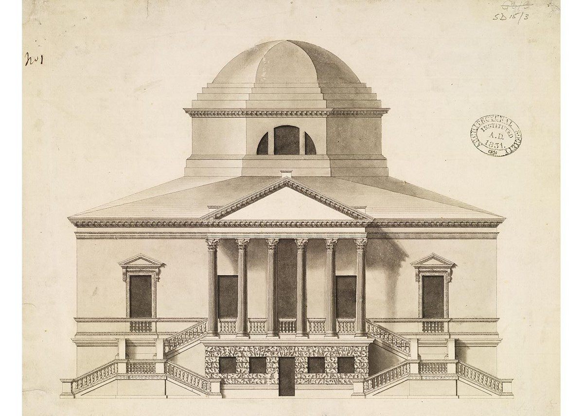 Chiswick House by Lord Burlington, 1729
