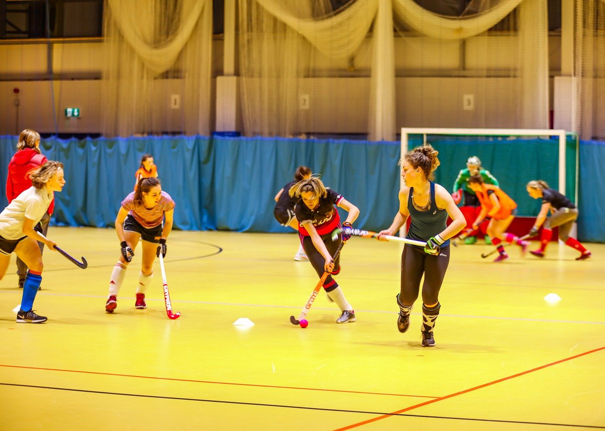 Gerflor Taraflex flooring is versatile and can be used for, for example, both indoor hockey and cricket.