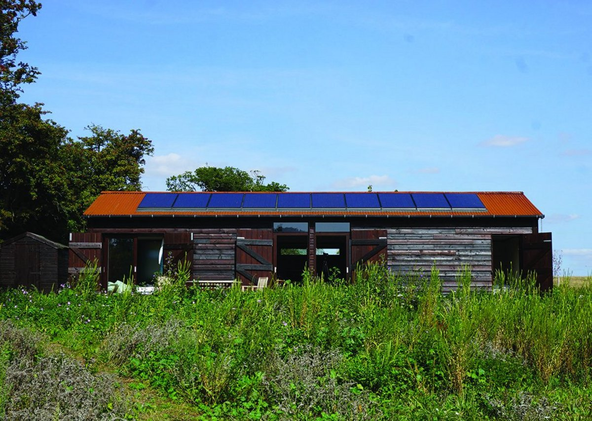 Drift Barn in Suffolk - near-Passivhaus standards in a rebuilt farm outbuilding.