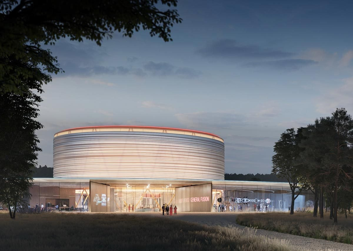 Water-driven power, AL_A Architects' design for General Fusion Power.
