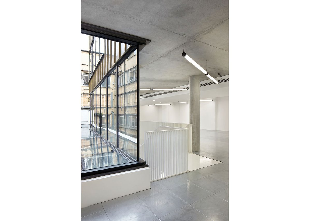 Schueco steel systems were used to bring in as much natural light into the building as possible.