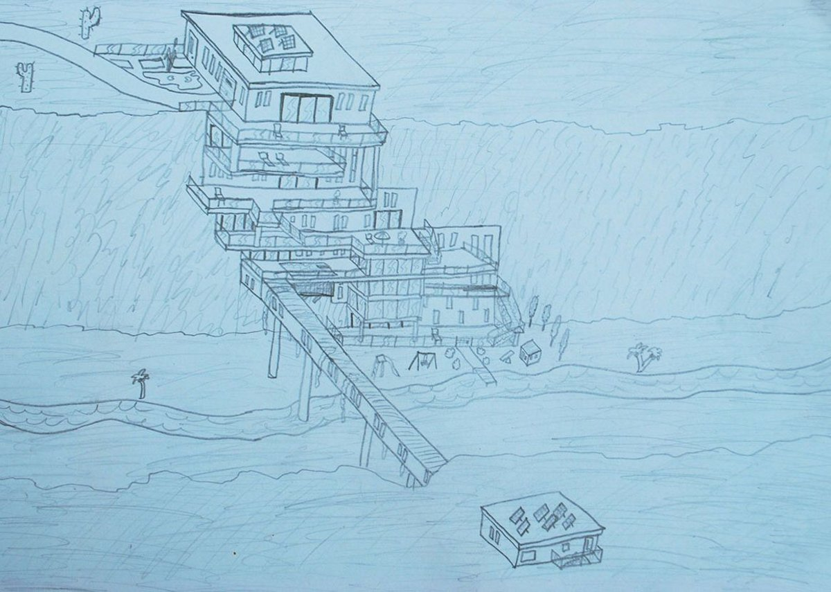 Nine-year-old Lev Griffin submitted this fantasia on Fallingwater to Eye Line.