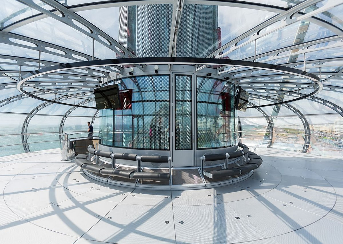 British Airways i360 pod interior.