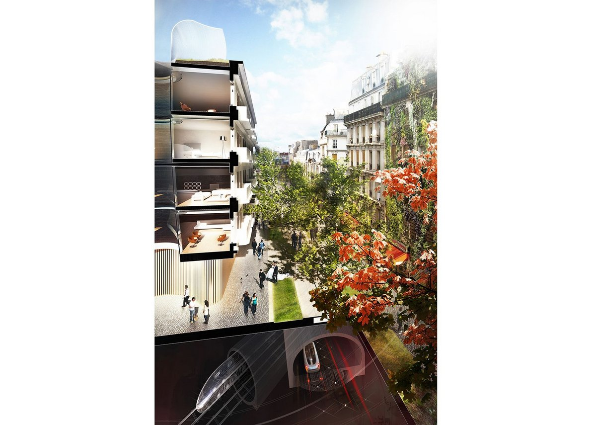 Living Cities proposal for Paris, section.