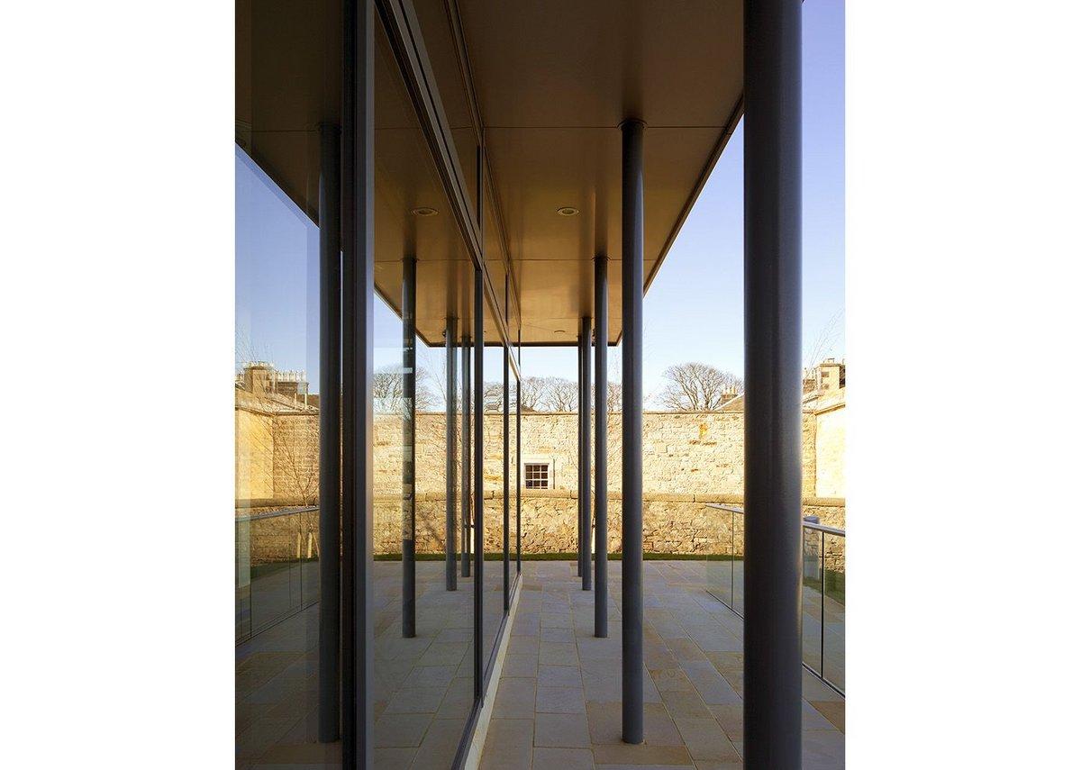 A lightweight building in Edinburgh's grade B listed context.
