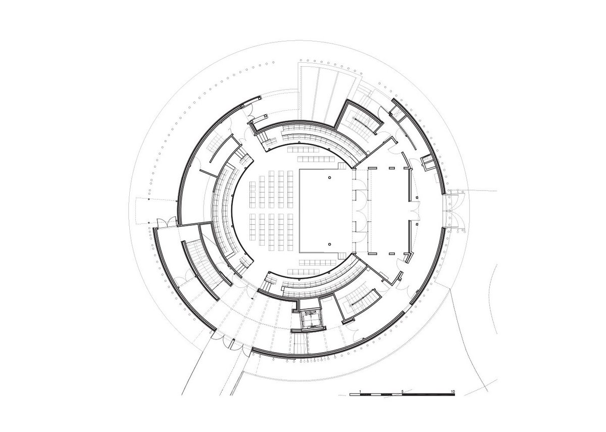 Ground floor plan of theatre