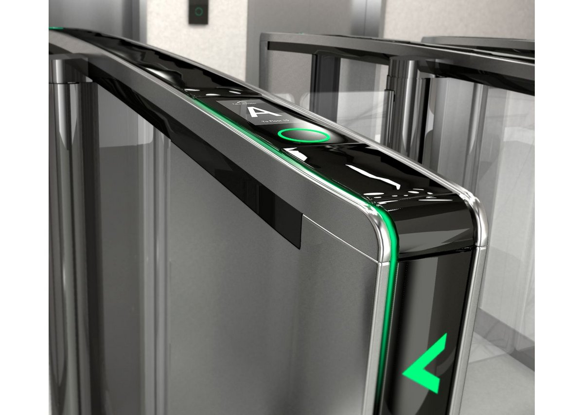 Boon Edam's Lifeline Speedlane Swing security gates act as a boundary between public and private spaces.