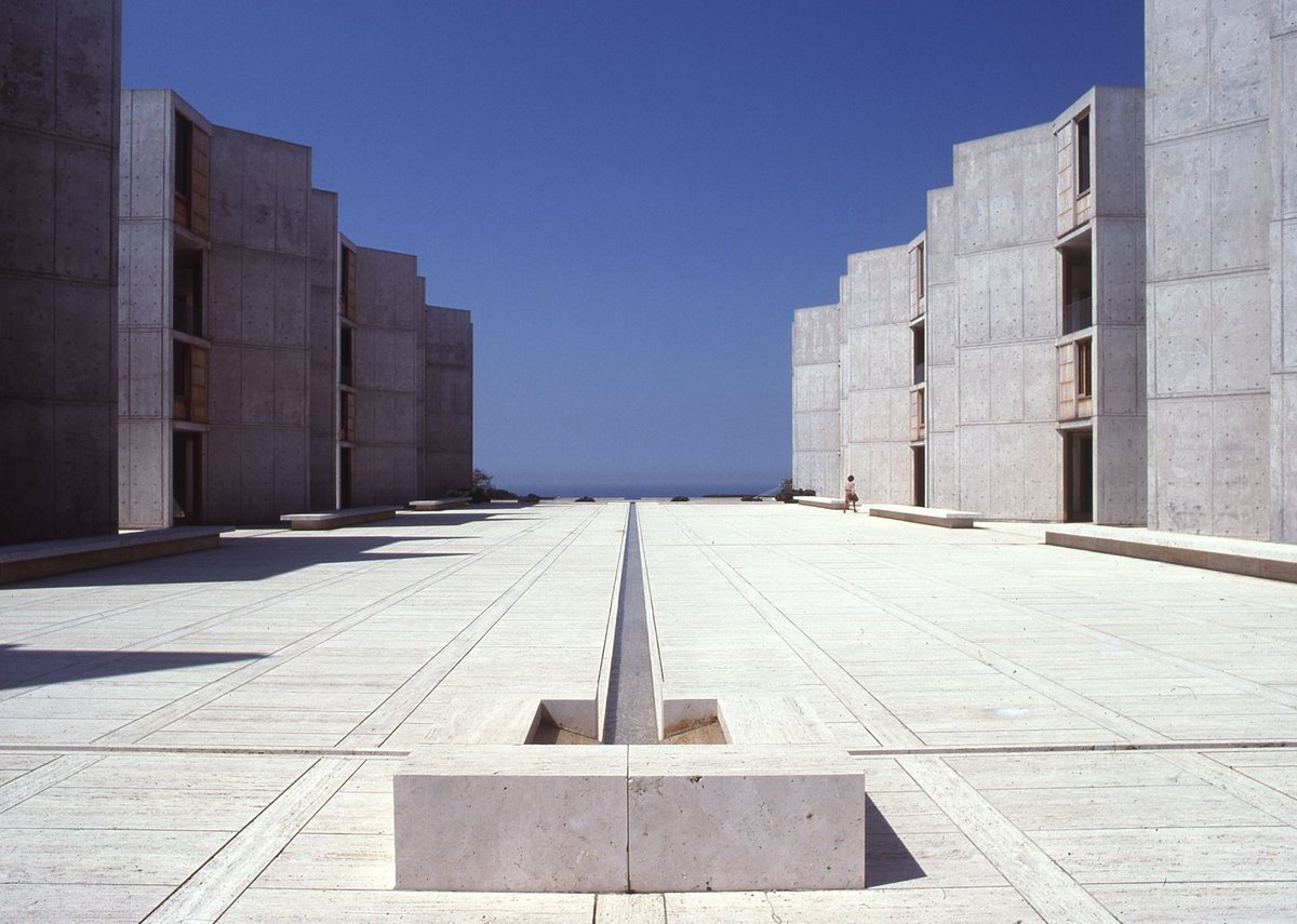 Salk Institute, La Jolla, California, 1959-65. Architectural Archives University of Pennsylvania.