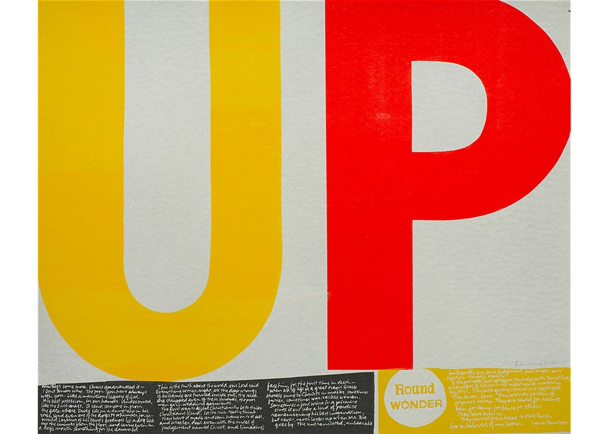 POWER UP, Corita Kent, 1965. Print, serigraph, Corita Art Center, Los Angeles.