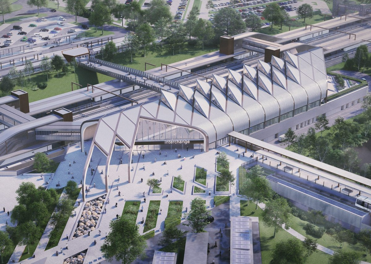 HS2 Interchange station, Solihull by Arup Architects.