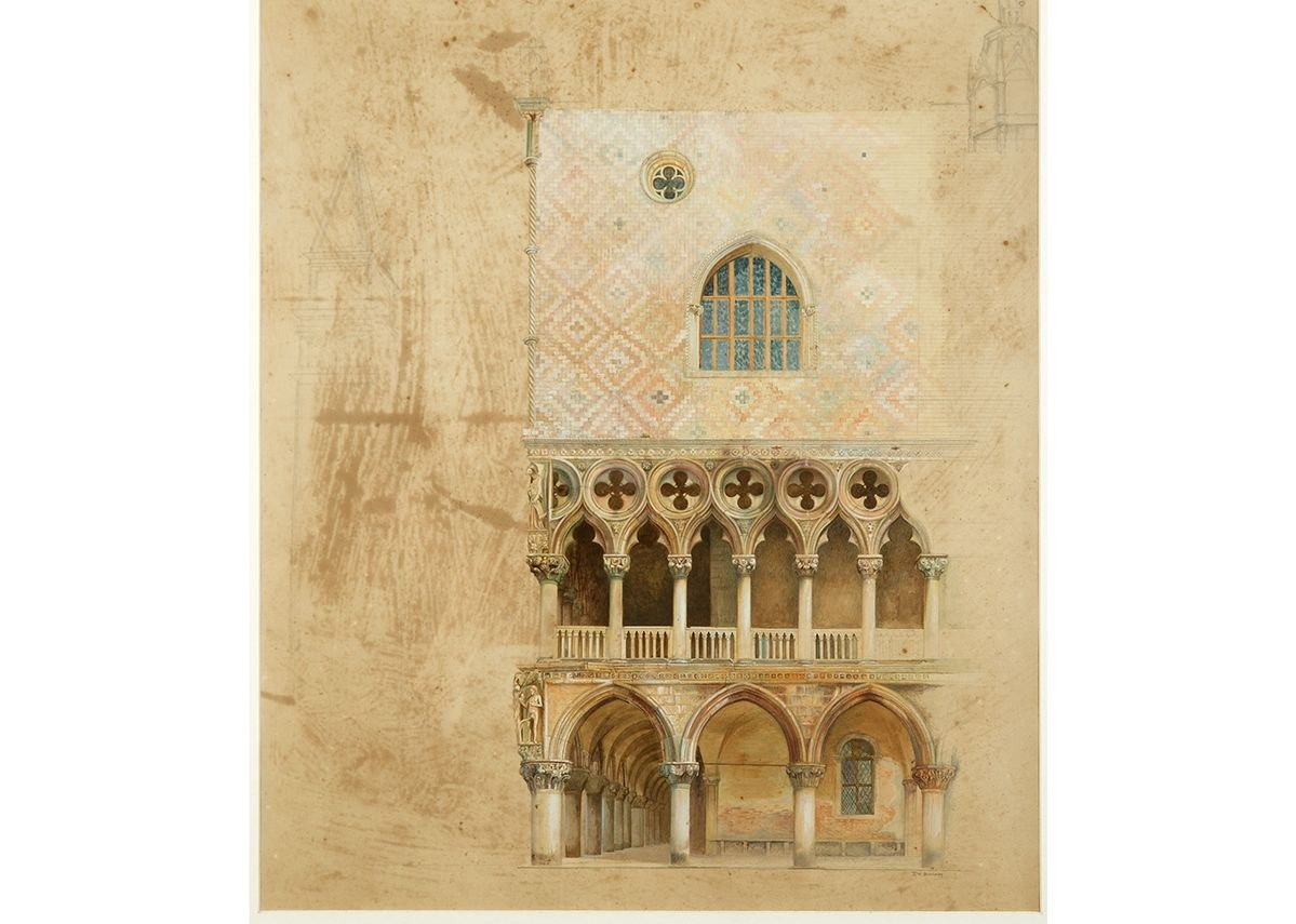 J.W.Bunney, South West Corner of the Doge's Palace, Venice 1871, Collection of the Guild of St George / Museums Sheffield