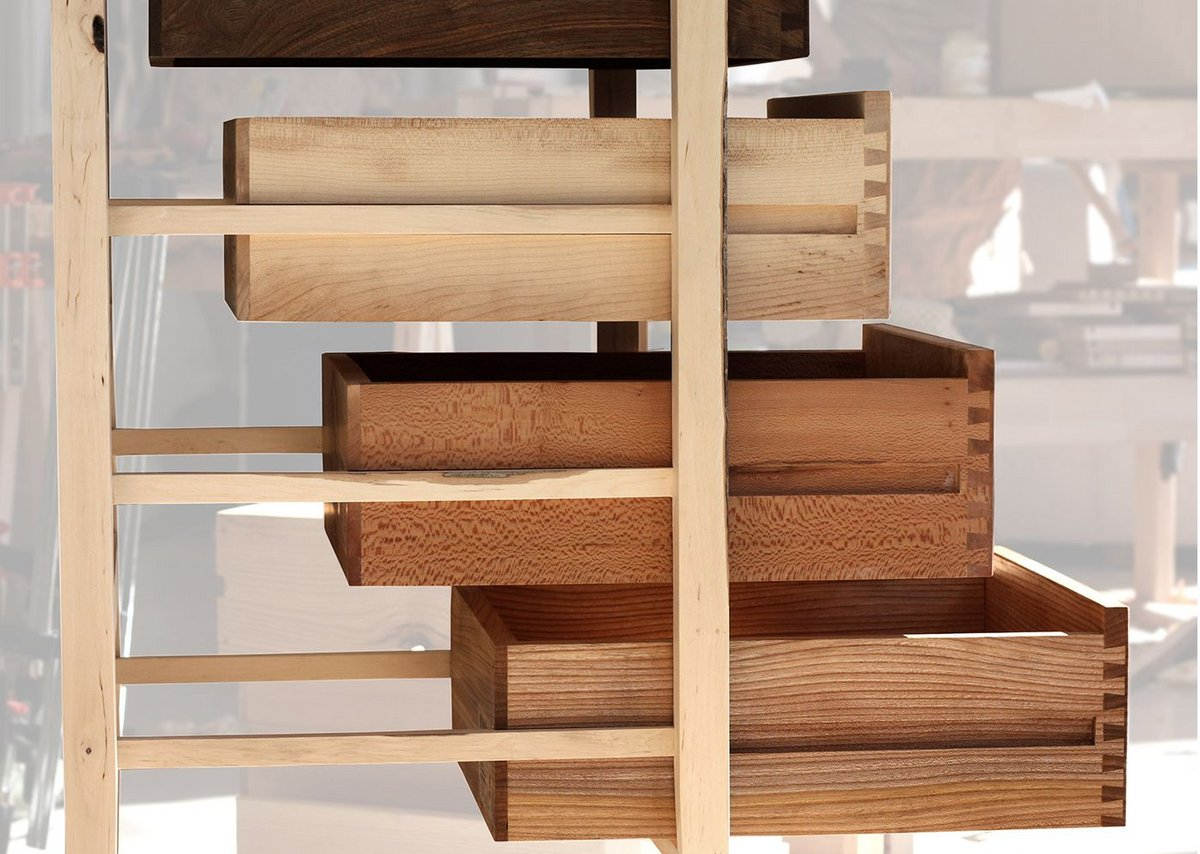 Ten Species Tallboy by Sebastian Cox Furniture.