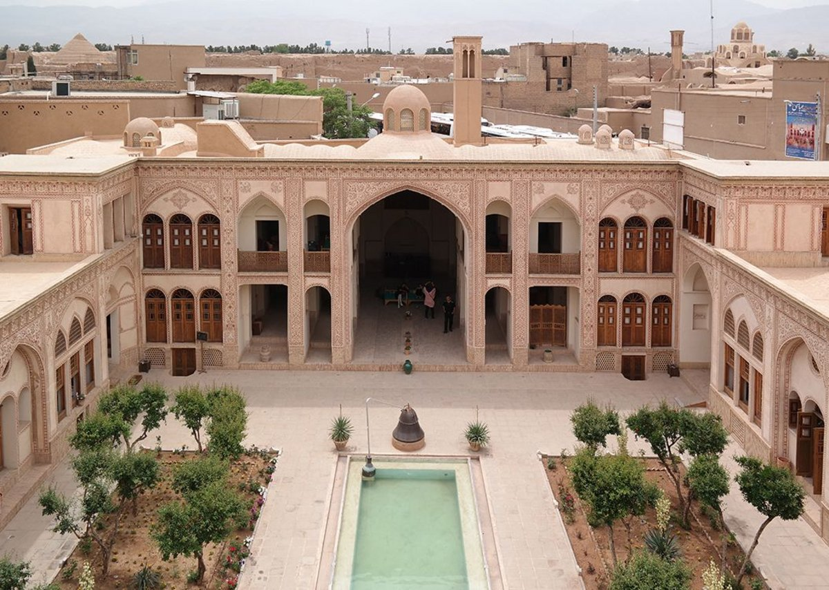 Ameriha House has seven courtyards, now part of an 85-room hotel in Kashan.