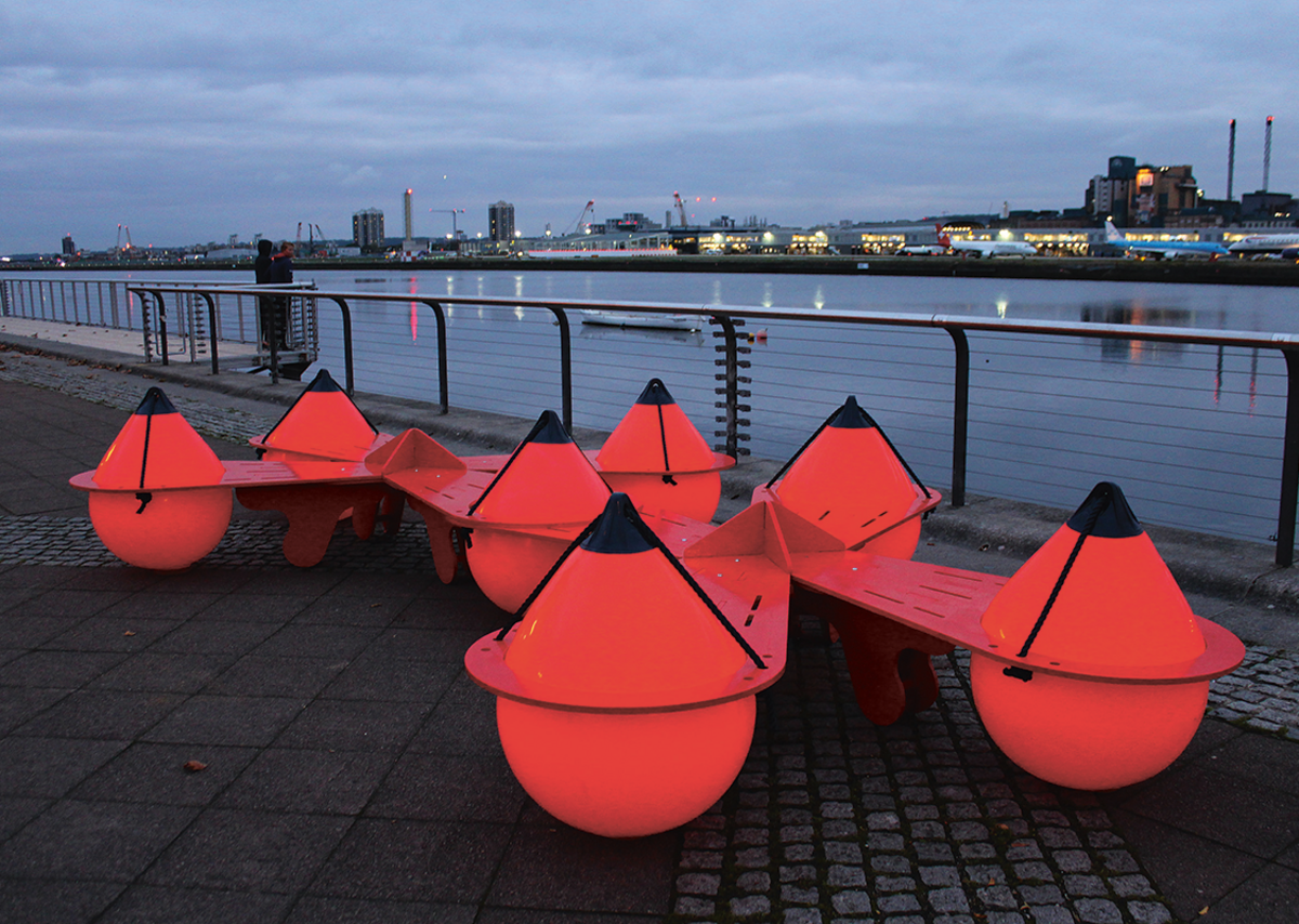 McCloy + Muchemwa love plastic ('it's our guilt') so were delighted to be able to use these buoys for an NLA bench 'The Buoys Are Back in Town'. And to fix them so simply they can be re-used in the future.