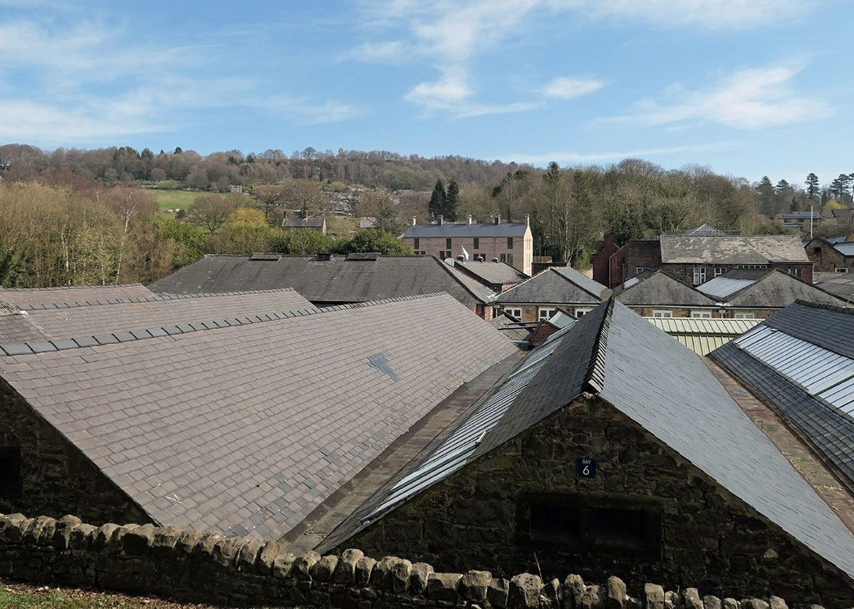 The mill in a rural setting with associated housing is characteristic of the Derwent Valley.