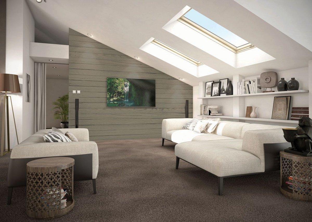 IRO internal cladding, Mountain, living room renovation.