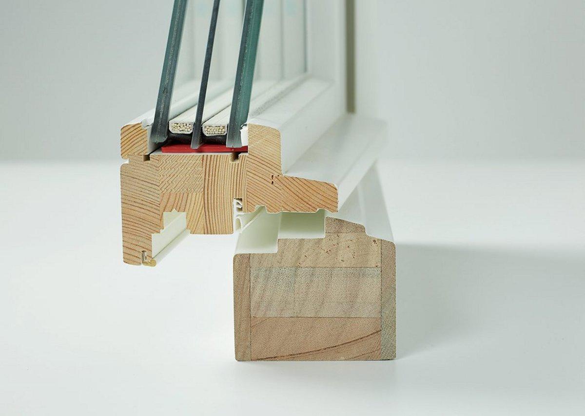 Cross-section of a bespoke triple-glazed Silent Windows by Hugo Carter High Performance design.