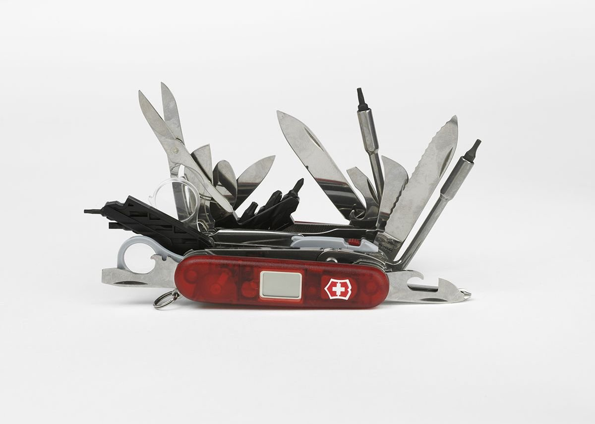 That solves several problems. Swiss Army Knife in the exhibition.
