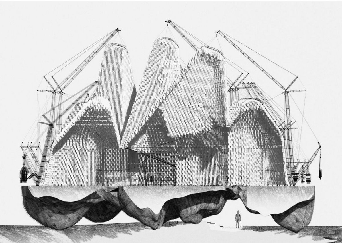 'A Positive Happening' was the winner in the Final Degree Project category. By Manuel Bouzas Barcala from the Madrid School of Architecture.