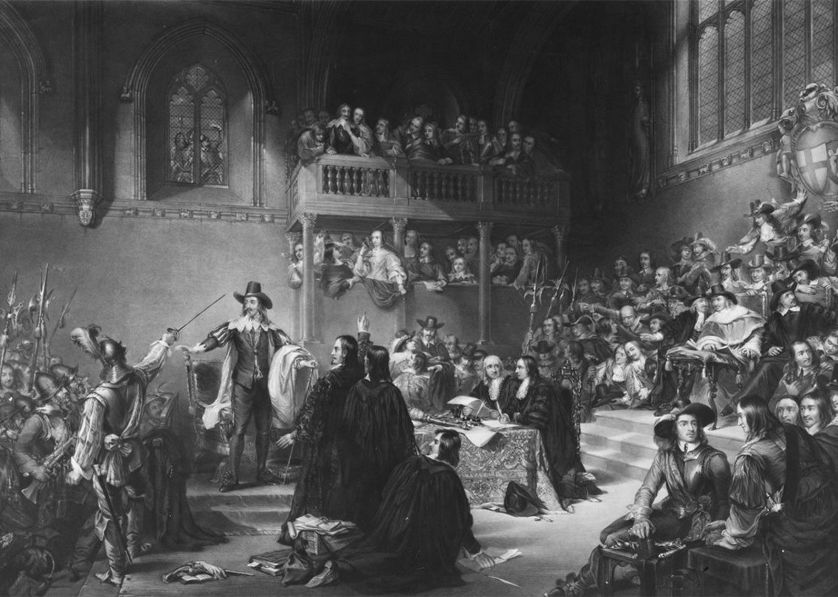 Trial of Charles I in Westminster Hall, 1649 Print by Charles Edward Wagstaff after original painting by William Henry Fisk published 1846