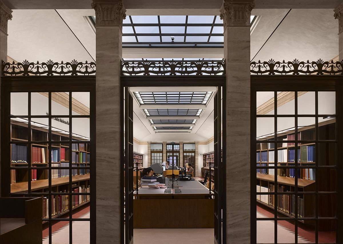 The restored Mackerras reading room.