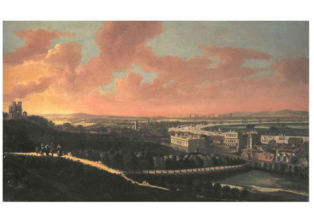 London from Greenwich Park, 1678, attributed to Jan Vorsteman.