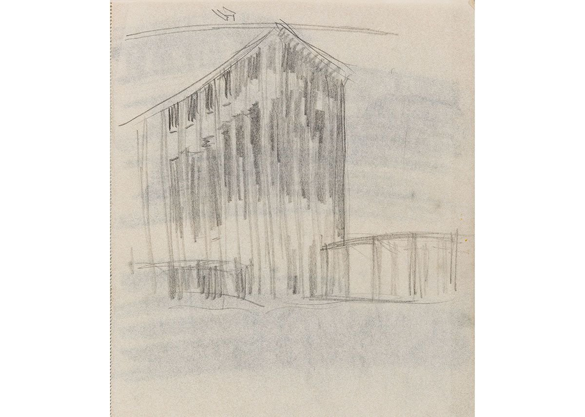 Hans Poelzig, sketch for the Stadthaus, Dresden, 1918
