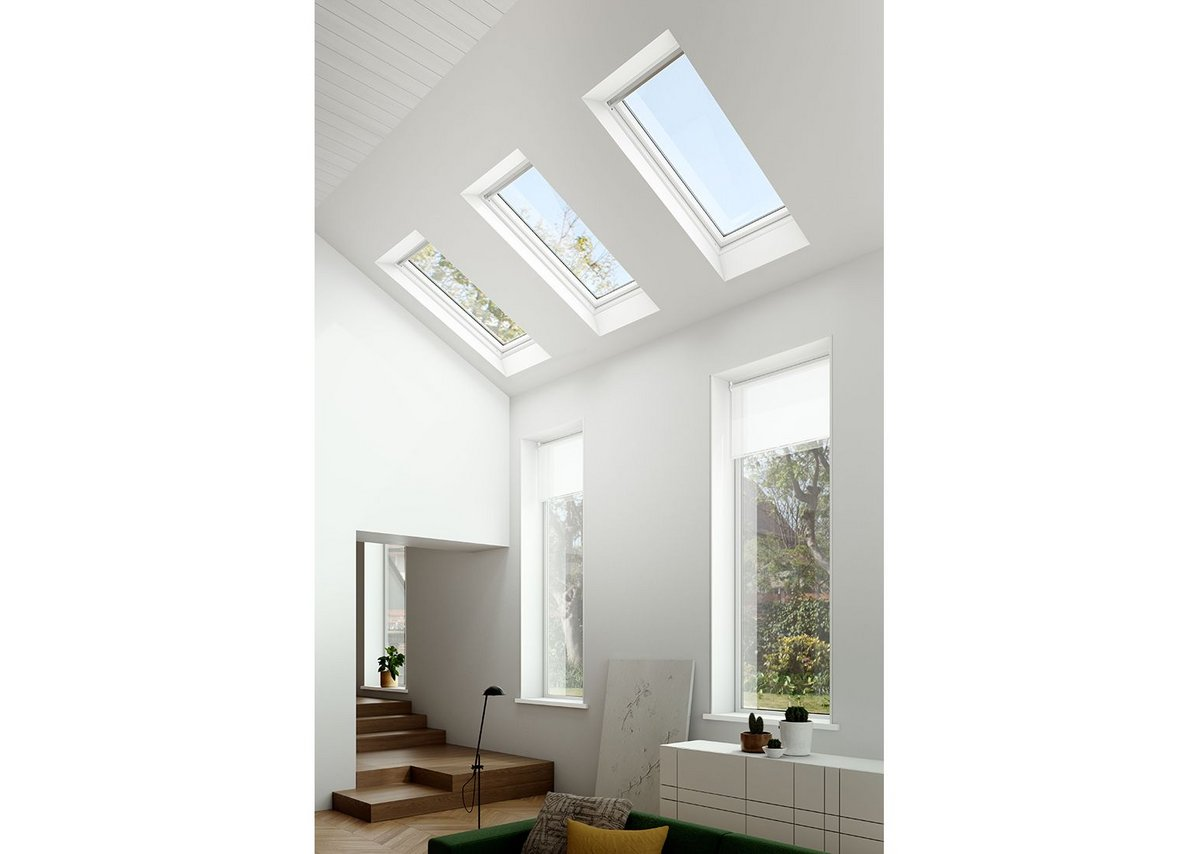 Three Keylite Polar roof windows light up a contemporary living space